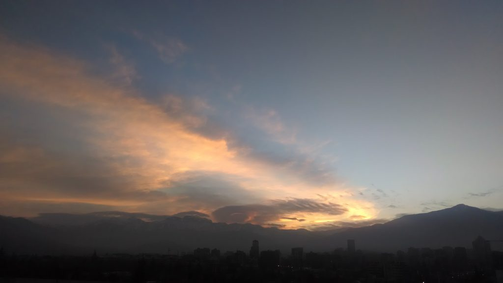 sunrise in Santiago Chile
